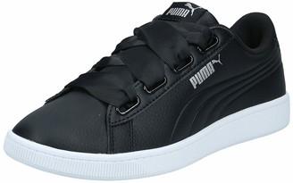 Puma Women's Vikky v2 Ribbon Core Low-Top Sneakers Black Black Silver White) 4 UK