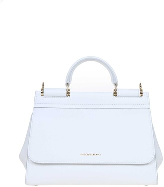 Dolce & Gabbana White Soft Sicily Bag S