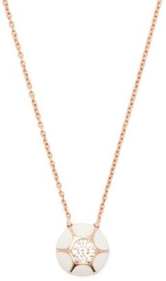 Selim Mouzannar Sea Flowers 18kt Rose-gold & Diamond Necklace - White