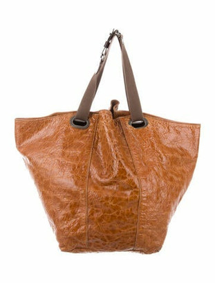 Marni Pebbled Leather Tote Brown