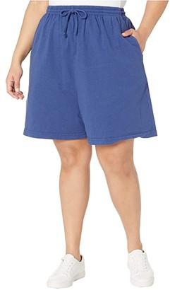 Fresh Produce Plus Size Jersey Shorts (Moonlight Blue) Women's Shorts