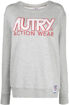 AUTRY Open Capsule logo-applique sweatshirt