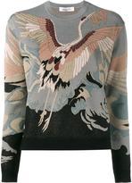 Valentino heron intarsia jumper