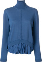 Semi-Couture Semicouture roll-neck knitted top with hem insert