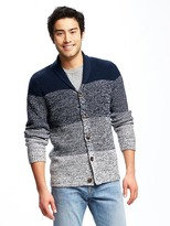 Old Navy Ombré Shawl-Collar Cardigan for Men
