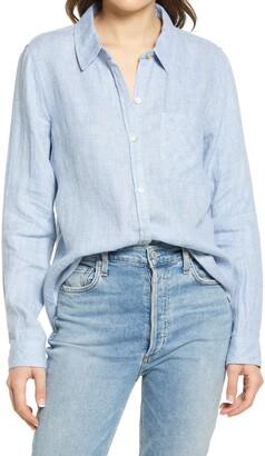 Faherty Malibu Linen Button-Up Shirt