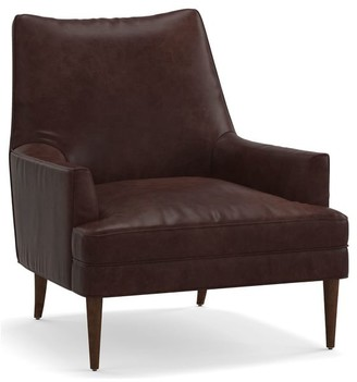 Pottery Barn Reyes Leather Armchair