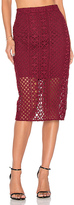 Bardot Calista Lace Skirt in Wine. - size Aus 12 / US M (also in Aus 14 / US L)