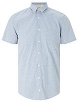 Hugo Boss Boss Orange Eglam Short Sleeve Shirt, Open Blue