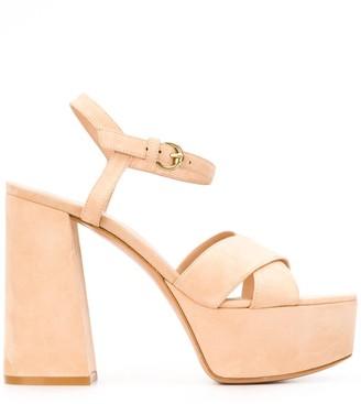 Gianvito Rossi Platform Sole Block Heel Sandals