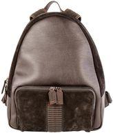 Salvatore Ferragamo Black Leather Backpack
