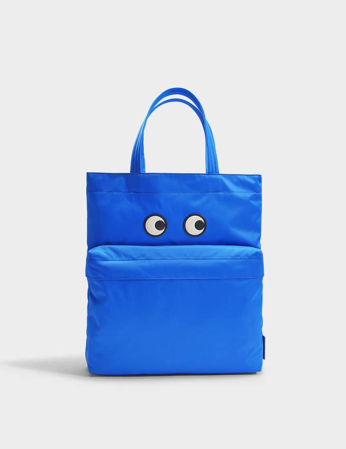 Anya Hindmarch Eyes Tote Bag in Electric Blue Nylon