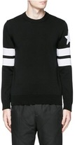 Givenchy Stripe sleeve cotton sweater