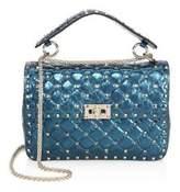 Valentino Medium Rockstud Spike Metallic Leather Chain Shoulder Bag
