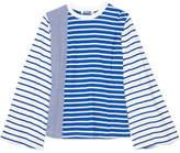 Sjyp Striped Cotton-jersey Top