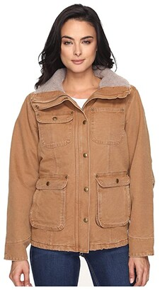 Carhartt Weathered Duck Wesley Coat Brown) Women's Coat