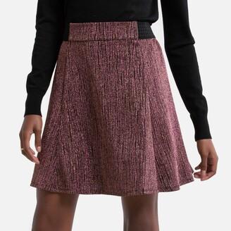 Naf Naf Metallic Mini Skirt with Elasticated Waist