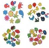 CH 48PCS Novelty Fridge Magnet Wall Stickers Decor Wooden Cartoon Animals Mini Funny Children Kids Toys