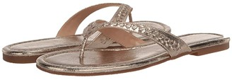 Jack Rogers Metallic Collins Flip-Flop (Pewter) Women's Shoes