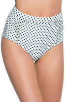 Betsey Johnson Polka Dot Printed Bikini Bottom
