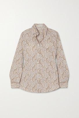 Etro Paisley-print Cotton-blend Oxford Shirt - Ivory