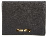 Miu Miu Women's Madras Leather French Wallet - Black