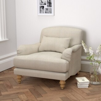 The White Company Petersham Armchair Linen Union, Natural Linen Union, One Size