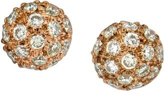 Sethi Couture Diamond Pave Ball Stud Earrings