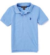 U.S. Polo Assn. Placid Blue Heather Horse Emblem Polo - Toddler & Boys