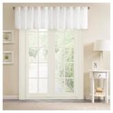 "Nobrand No Brand Vera Sheer Embroidered Window Valance White (50x18"")"