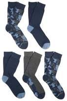 F&F 5 Pair Pack of Camo Fresh Feel Socks, Men's