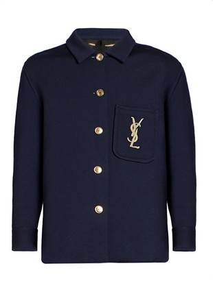 Saint Laurent Logo Embroidered Jacket