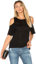 John & Jenn by Line Niamh Cold Shoulder Top in Black. - size L (also in M,XS)