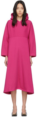 Balenciaga Pink Cocoon Hooded Sweatshirt Dress