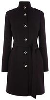 Oasis Lucille Funnel Neck Coat, Black