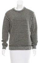 Sandro Wool Gingham Sweater