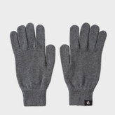 Paul Smith Men's Grey Merino Wool Gloves