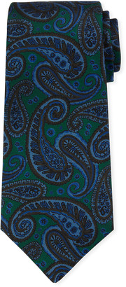 Kiton Men's Tonal Paisley Silk Tie