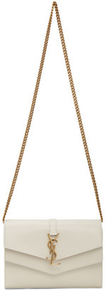 Saint Laurent Off-White Sulpice Chain Wallet Bag