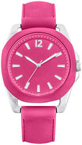 JCPenney FASHION WATCHES Womens Silicone Strap Watch