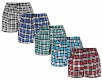 FM London (Pack of 5) Men's Woven Boxer Shorts
