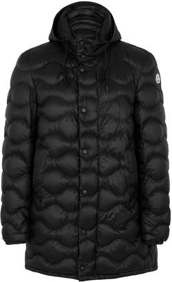 Moncler Duboc black quilted shell coat
