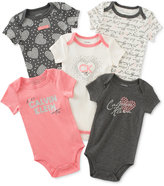 Calvin Klein Baby Girls' 5-Pk. New York City & Hearts Bodysuits