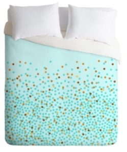 Deny Designs Iveta Abolina Teal Splash King Duvet Set Bedding