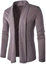 CFD Mens Casual Solid Shawl Collar Knit Cardigans Sweaters US L