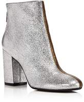 Kenneth Cole Cassandra Leather Two-Tone Metallic Block Heel Booties - 100% Exclusive