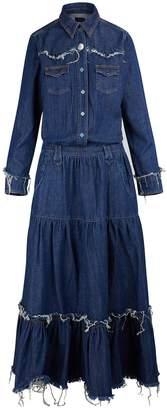 Alanui Denim maxi dress
