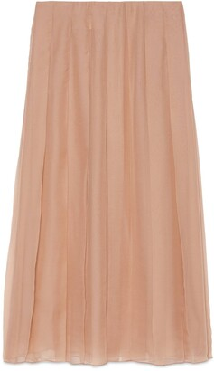 Gucci Silk chiffon mid-length skirt