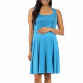 24/7 Comfort Apparel A-Line Dress-Maternity