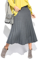Everest Gray Pleat Maxi Skirt